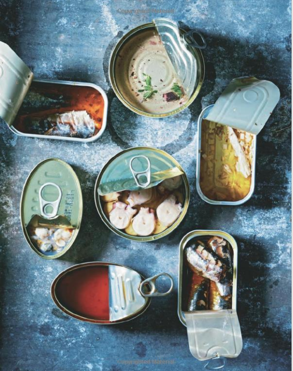 Colourful tins of fish